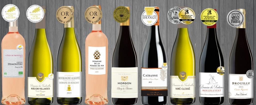 Vins médaillés CONCOURS NATIONAUX